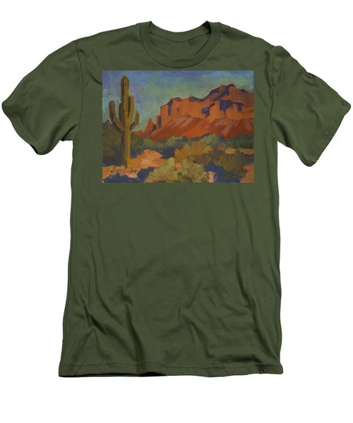 Late Afternoon Light At Superstition Mountain Men's T-Shirt (Athletic Fit)