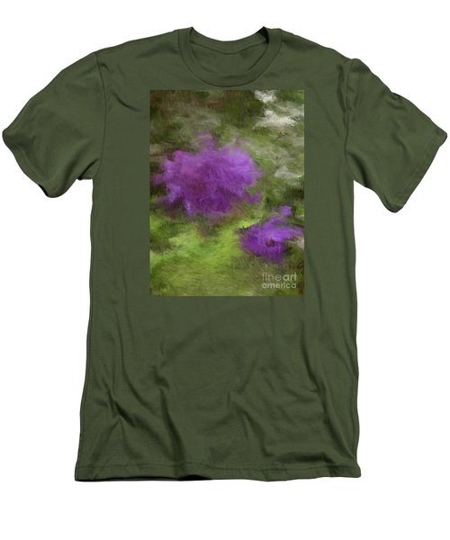 Men's T-Shirt (Slim Fit) featuring the digital art Monet Meadow by The Art of Alice Terrill