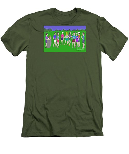 Lawn Party  Men's T-Shirt (Slim Fit) by Fred Jinkins