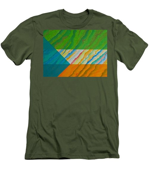 Men's T-Shirt (Slim Fit) featuring the mixed media Layover by Michele Myers