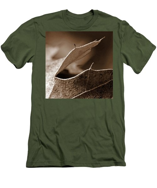 Men's T-Shirt (Slim Fit) featuring the photograph Leaf Collage 2 by Lauren Radke