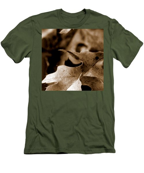 Men's T-Shirt (Slim Fit) featuring the photograph Leaf Collage 4 by Lauren Radke