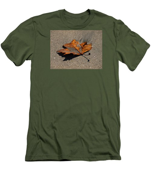 Men's T-Shirt (Slim Fit) featuring the photograph Leaf Composed by Joe Schofield