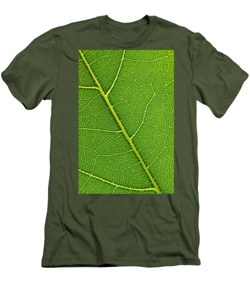 Men's T-Shirt (Slim Fit) featuring the photograph Leaf Detail by Carsten Reisinger