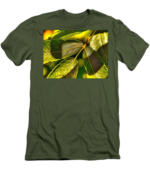 Leaf Texture Men's T-Shirt (Athletic Fit)