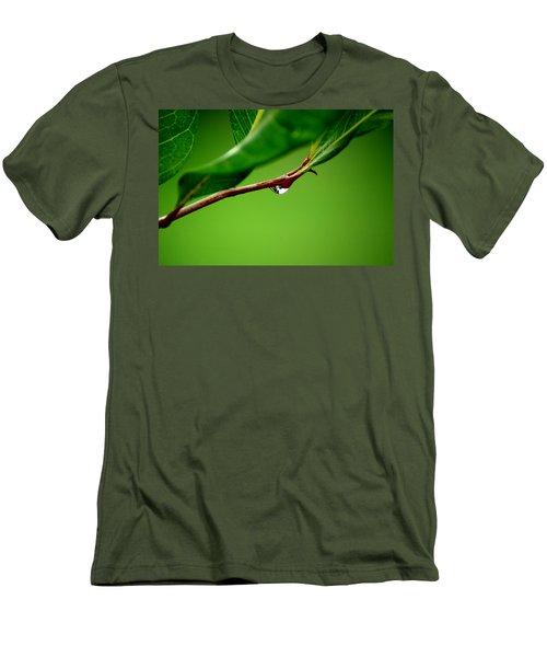 Leafdrop Men's T-Shirt (Athletic Fit)