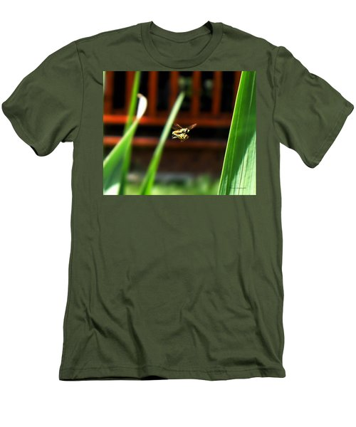 Men's T-Shirt (Slim Fit) featuring the photograph Leave No Bee Behind by Thomas Woolworth