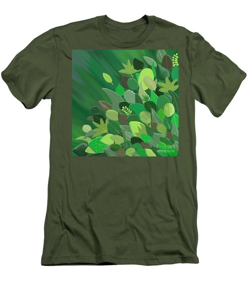 Leaves Are Awesome Men's T-Shirt (Slim Fit) by Linda Lees