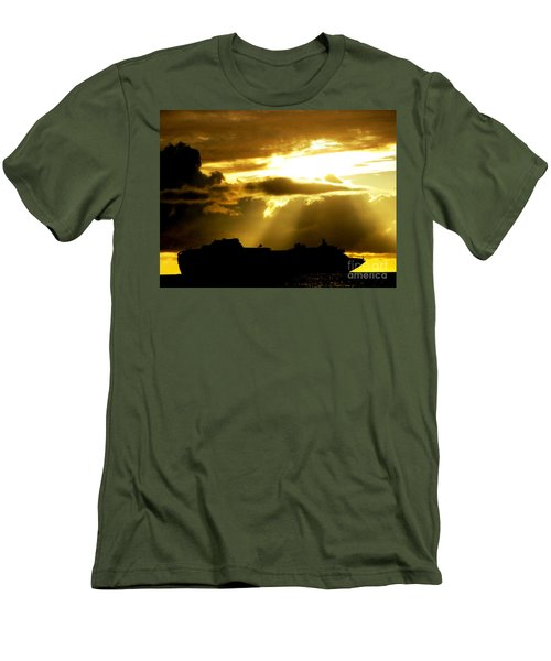 Men's T-Shirt (Slim Fit) featuring the photograph Leaving Kona by David Lawson