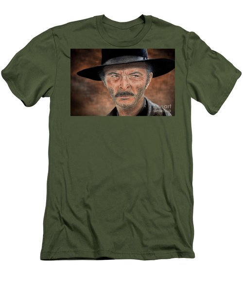 Lee Van Cleef As Angel Eyes In The Good The Bad And The Ugly Version II Men's T-Shirt (Slim Fit) by Jim Fitzpatrick