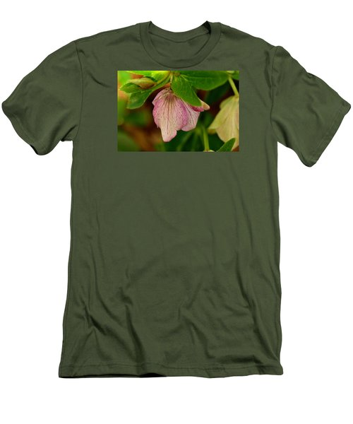 Men's T-Shirt (Slim Fit) featuring the photograph Lenton Rose Of Winter by Larry Bishop