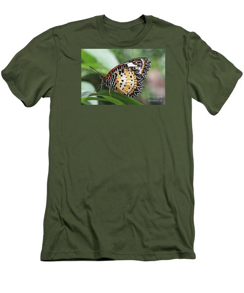 Leopard Lacewing Butterfly Men's T-Shirt (Slim Fit) by Judy Whitton
