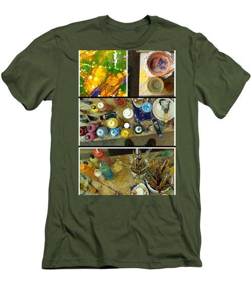 Men's T-Shirt (Slim Fit) featuring the photograph Les Couleurs by Sir Josef - Social Critic - ART