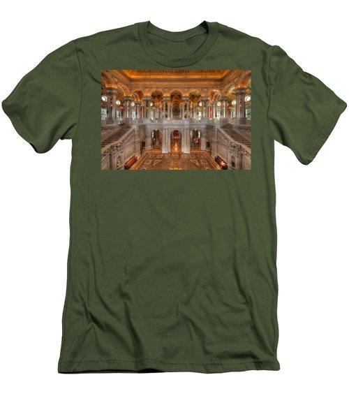 Library Of Congress Men's T-Shirt (Slim Fit) by Steve Gadomski