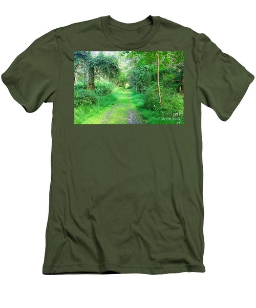 Men's T-Shirt (Slim Fit) featuring the photograph Light At The End Of The Tunnel by Becky Lupe