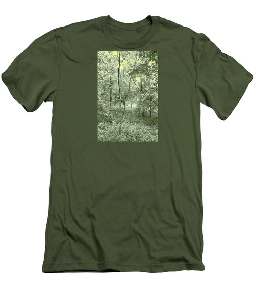 Men's T-Shirt (Slim Fit) featuring the photograph Light Forest Scene by Tom Wurl