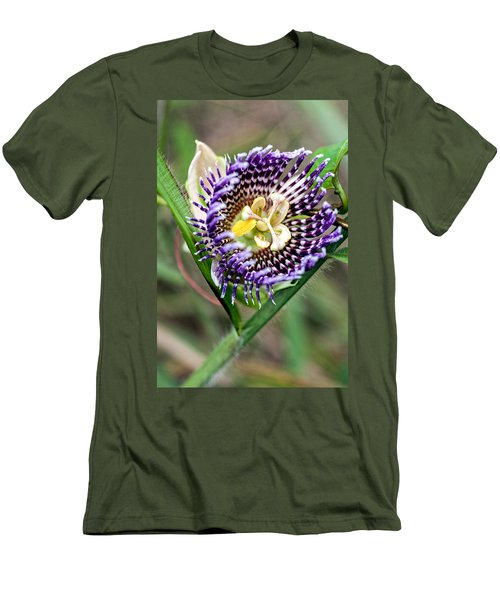 Men's T-Shirt (Slim Fit) featuring the photograph Lilikoi Flower by Dan McManus