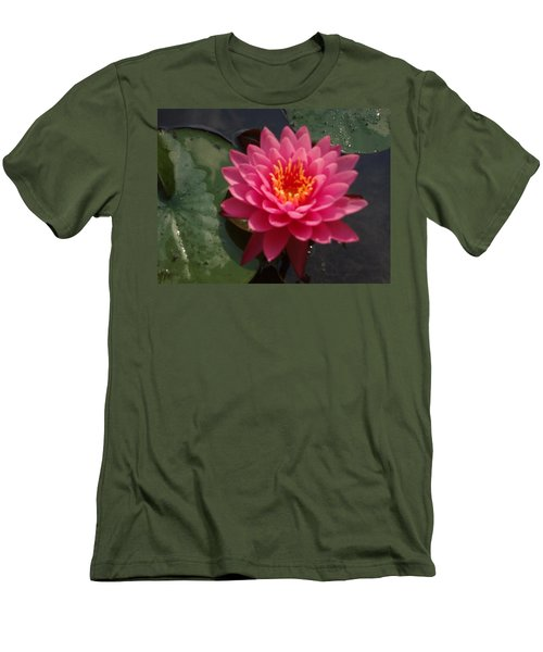 Lily Flower In Bloom Men's T-Shirt (Slim Fit) by Michael Porchik