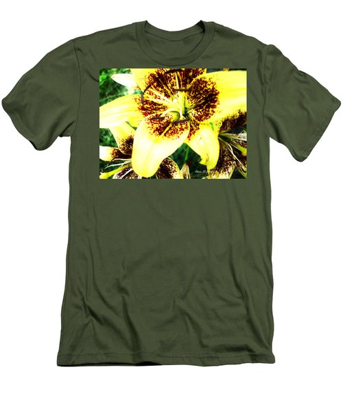 Men's T-Shirt (Slim Fit) featuring the photograph Lily Love by Shana Rowe Jackson