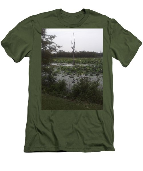 Men's T-Shirt (Slim Fit) featuring the photograph Lily Pads by Fortunate Findings Shirley Dickerson