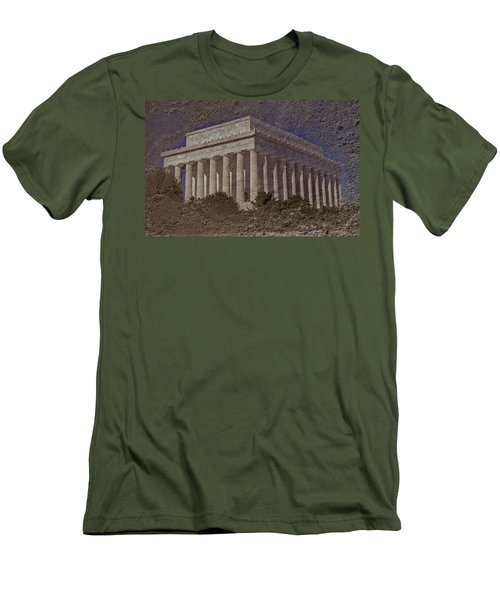 Lincoln Memorial Men's T-Shirt (Slim Fit) by Skip Willits