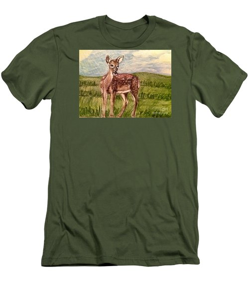 Men's T-Shirt (Slim Fit) featuring the painting Listening To The Creator's Voice by Kimberlee Baxter