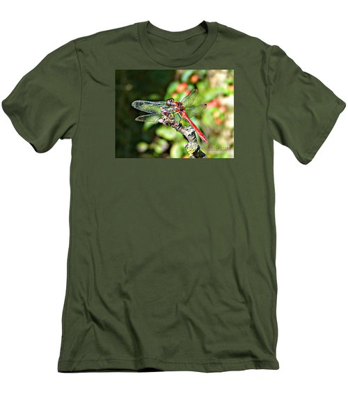 Men's T-Shirt (Slim Fit) featuring the photograph Little Dragonfly by Morag Bates