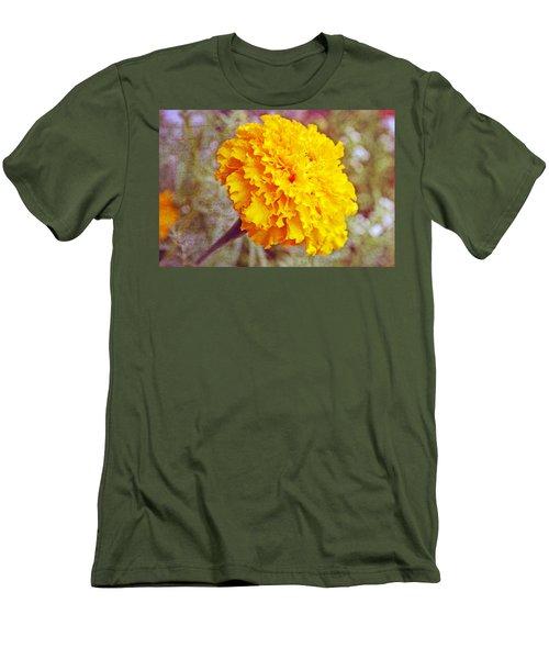 Men's T-Shirt (Slim Fit) featuring the photograph Little Golden  Marigold by Kay Novy