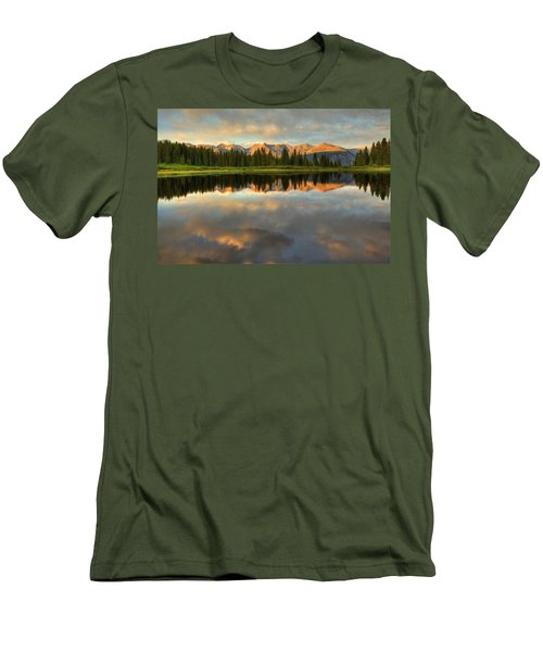 Little Molas Lake At Sunset Men's T-Shirt (Athletic Fit)