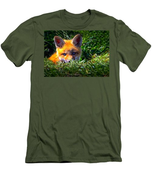 Little Red Fox Men's T-Shirt (Athletic Fit)