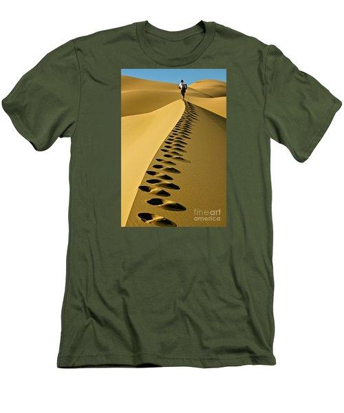 Live On The Edge Men's T-Shirt (Slim Fit) by Michael Cinnamond