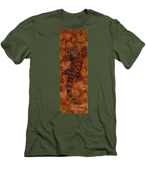 Lizard In Red Nature - Elena Yakubovich Men's T-Shirt (Athletic Fit)