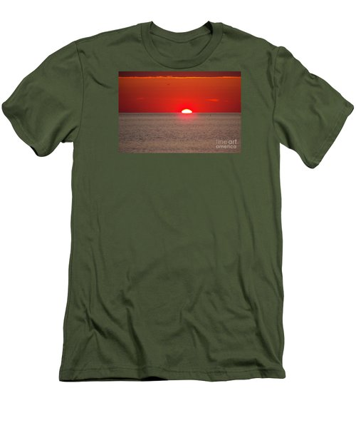 Lobster Pots Dance In The Sea  At Sunrise Men's T-Shirt (Slim Fit) by Eunice Miller