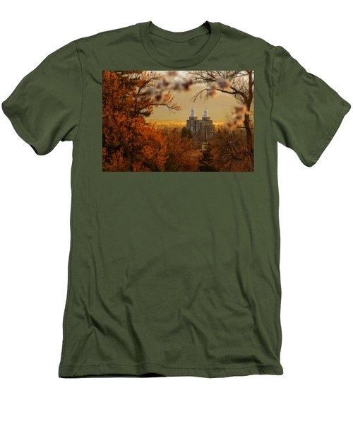 Logan Temple Men's T-Shirt (Slim Fit) by Dustin  LeFevre