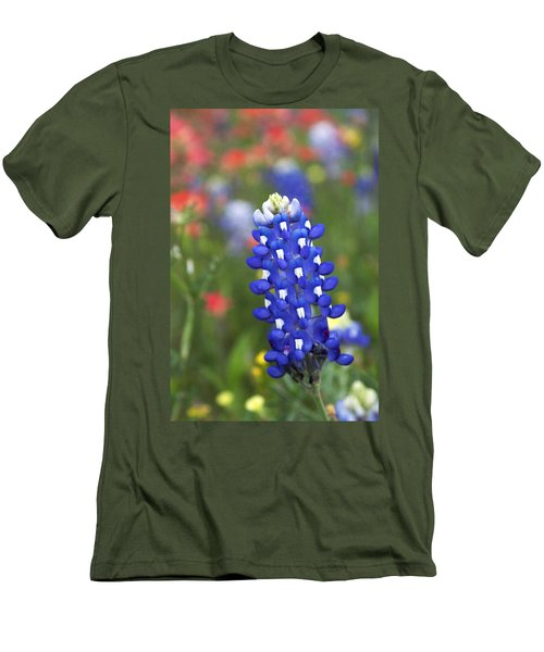 Lone Bluebonnet Men's T-Shirt (Slim Fit)