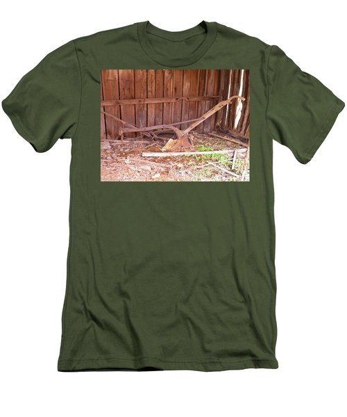 Men's T-Shirt (Slim Fit) featuring the photograph Lone Plow by Nick Kirby