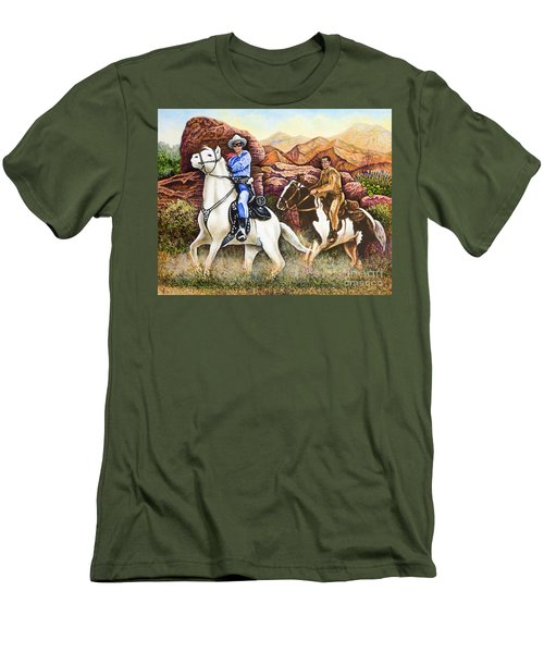 Lone Ranger And Tonto Ride Again Men's T-Shirt (Athletic Fit)