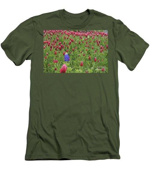 Lonely Bluebonnet Men's T-Shirt (Athletic Fit)