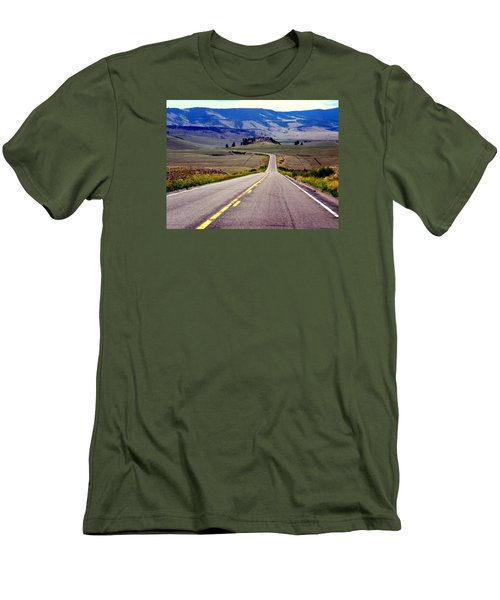Lonely Road Men's T-Shirt (Slim Fit) by Antonia Citrino