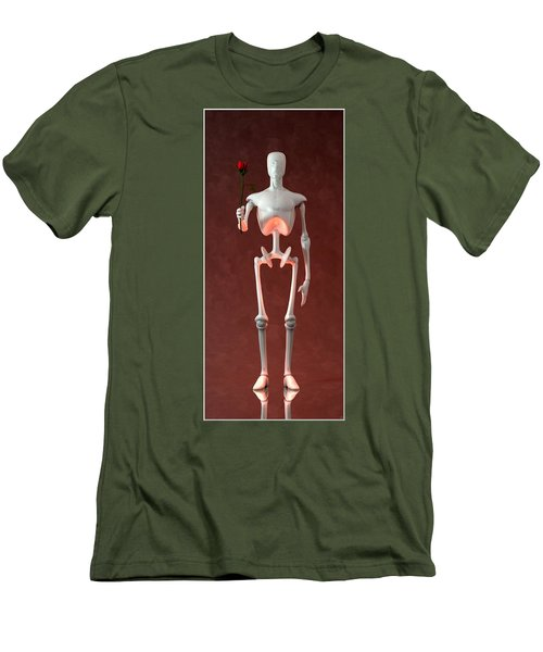 Men's T-Shirt (Slim Fit) featuring the digital art Lonely Robot... by Tim Fillingim