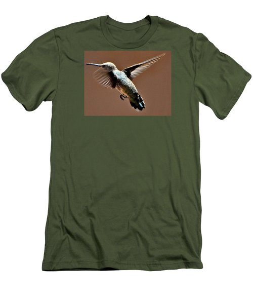 Men's T-Shirt (Slim Fit) featuring the photograph Look At My Crazy Crows Feet by Jay Milo