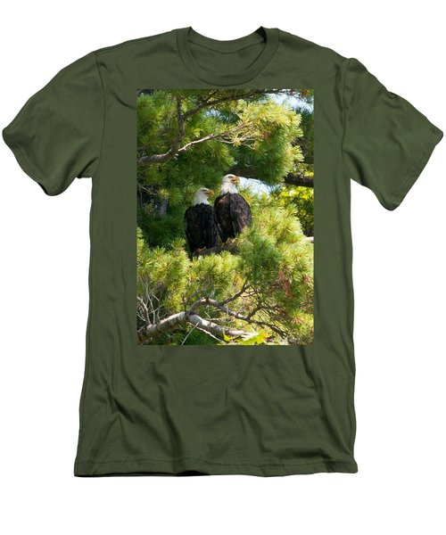 Men's T-Shirt (Slim Fit) featuring the photograph Look Over There by Brenda Jacobs