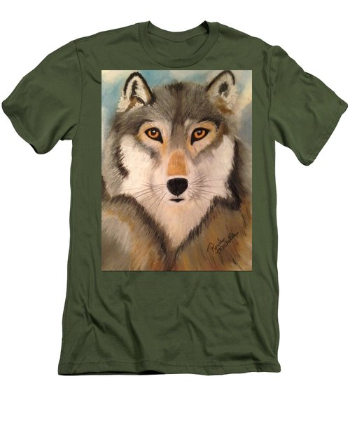 Looking At A Timber Wolf Men's T-Shirt (Athletic Fit)