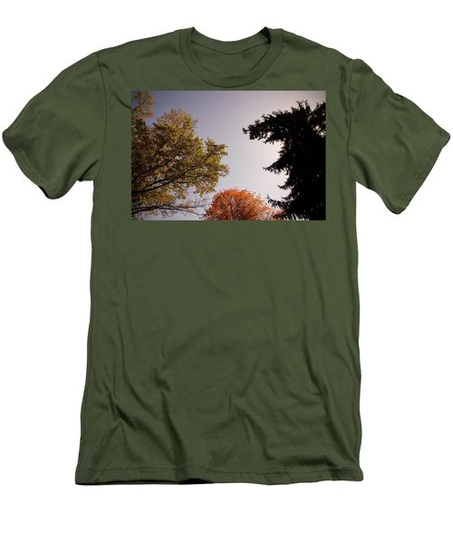 Men's T-Shirt (Slim Fit) featuring the photograph Looking Down On Us by Photographic Arts And Design Studio