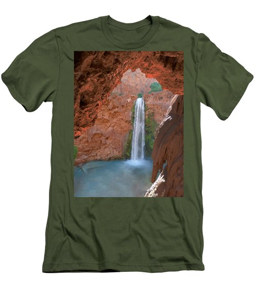 Looking Out From The Cave Men's T-Shirt (Slim Fit) by Alan Socolik