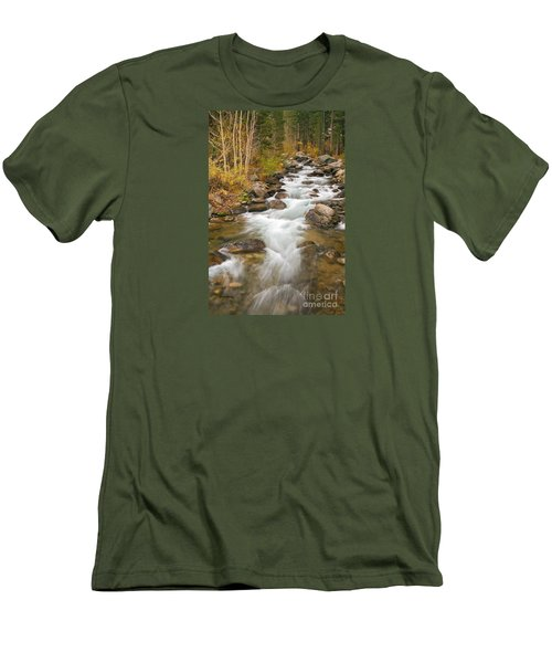 Looking Upstream Men's T-Shirt (Slim Fit) by Alice Cahill