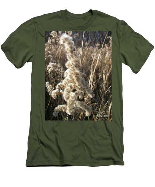 Men's T-Shirt (Slim Fit) featuring the photograph Looks Like Cotton by Sara  Raber