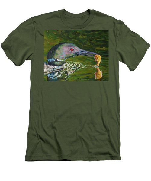 Loon Lunch Men's T-Shirt (Slim Fit) by Phil Chadwick