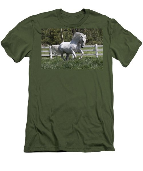 Men's T-Shirt (Slim Fit) featuring the photograph Loose In The Paddock 5594 by Wes and Dotty Weber