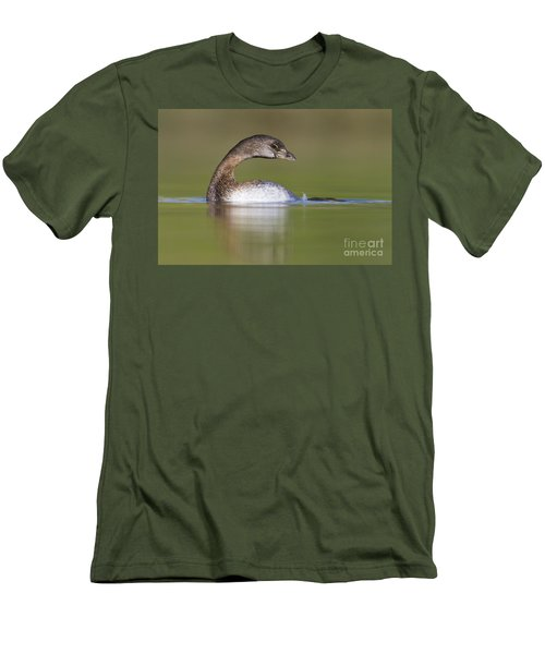 Men's T-Shirt (Slim Fit) featuring the photograph Loss-neck Grebe by Bryan Keil